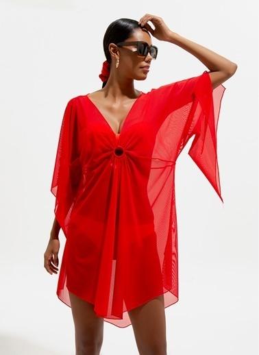 Loves You Plaj Elbisesi Kırmızı